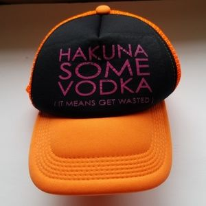 """Hakuna Some Vodka"" Mesh Snapback Hat"